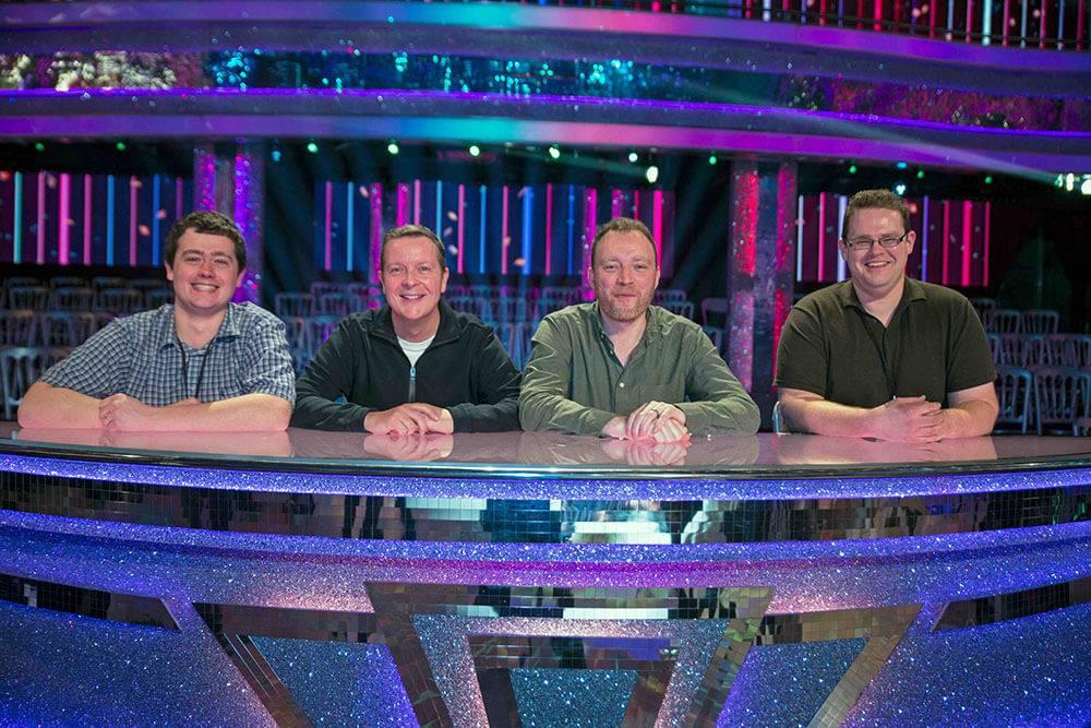 Équipe chargée de l'éclairage de Strictly - Tom Young, Darren Lovell, David Bishop (LD), Matt Lee © John O'Brien